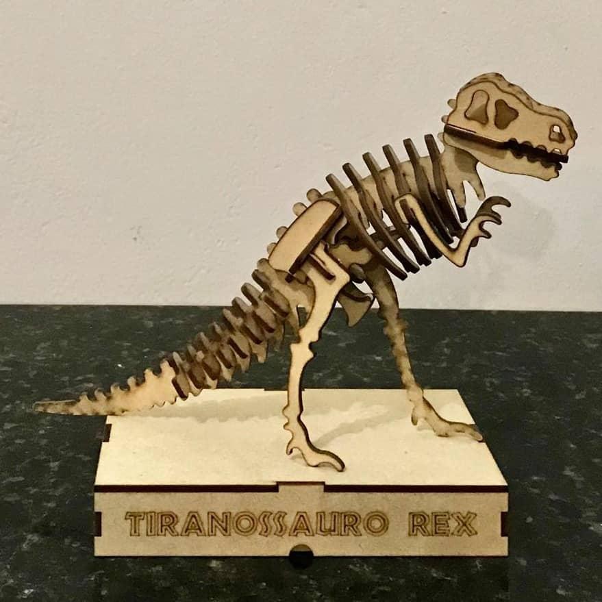 Quebra-cabeça MDF Dinossauro 3D